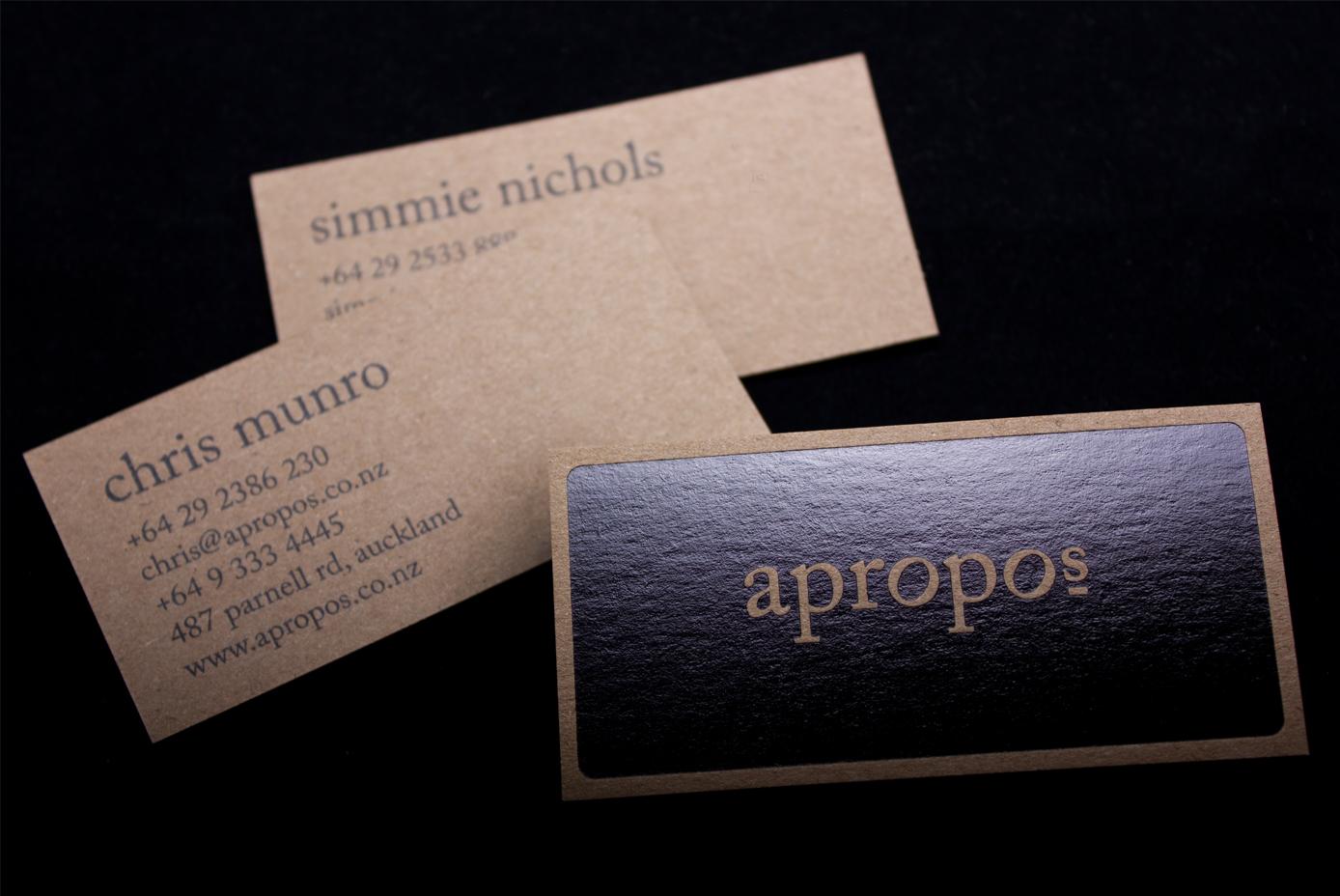 Apropos Business Cards | Logick Print