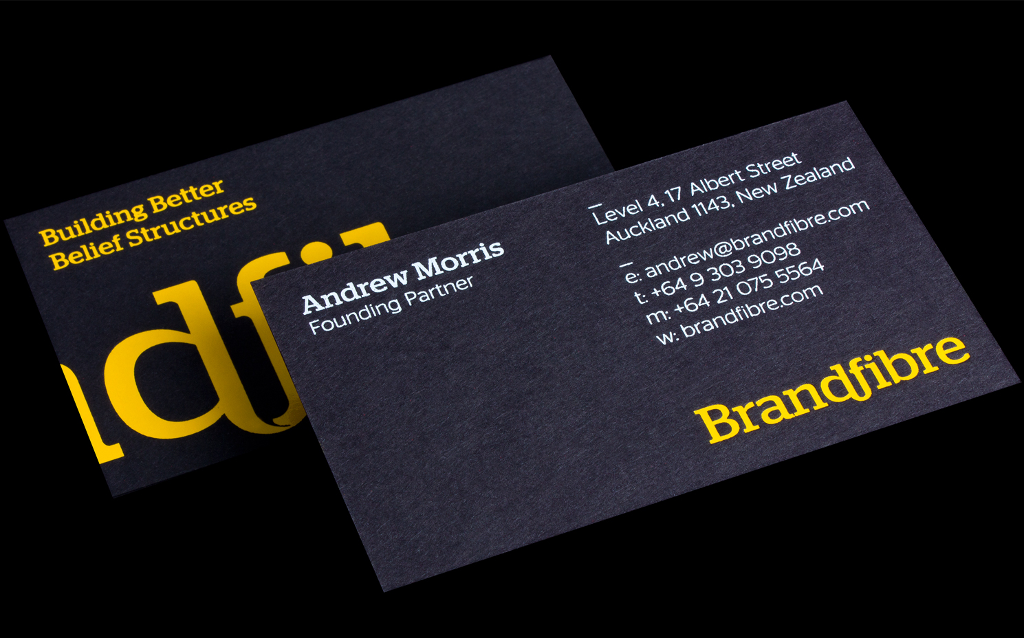 Logick print brand fibre business cards notturno black stock reheart Images