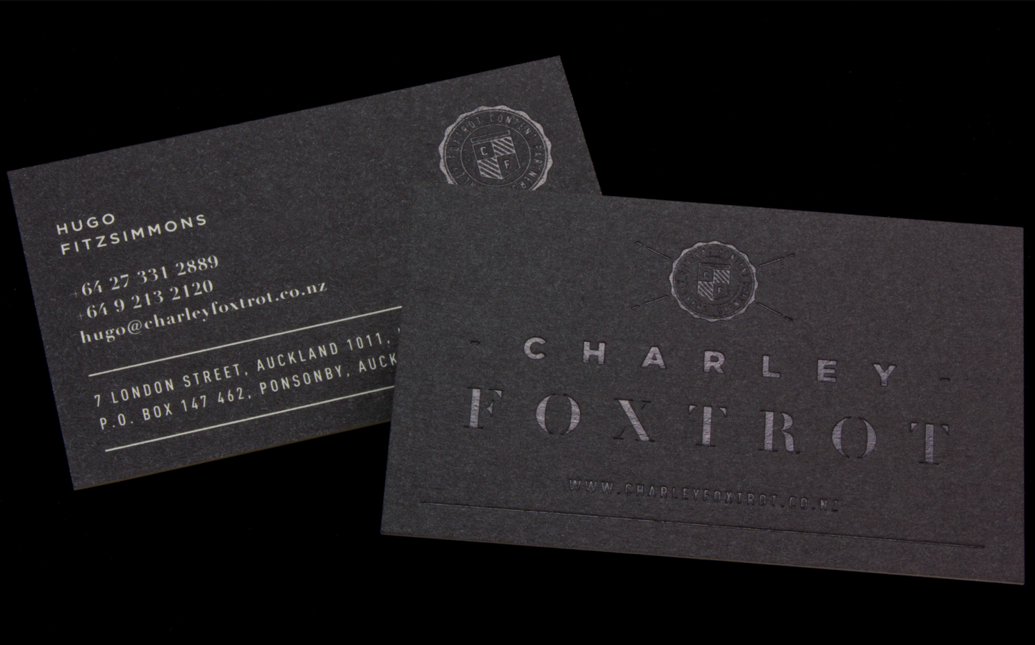 Charley Foxtrot Business Cards Logick Print