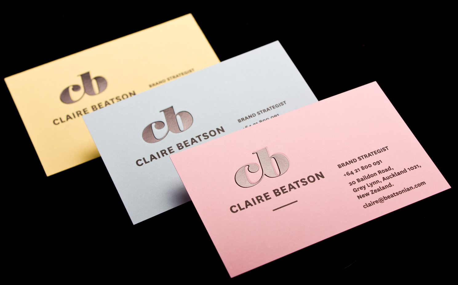 Claire beatson business cards logick print reheart Choice Image