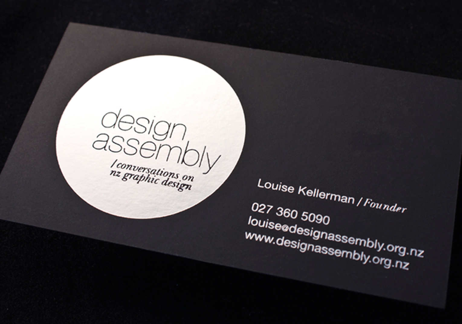 design assembly business card logick print