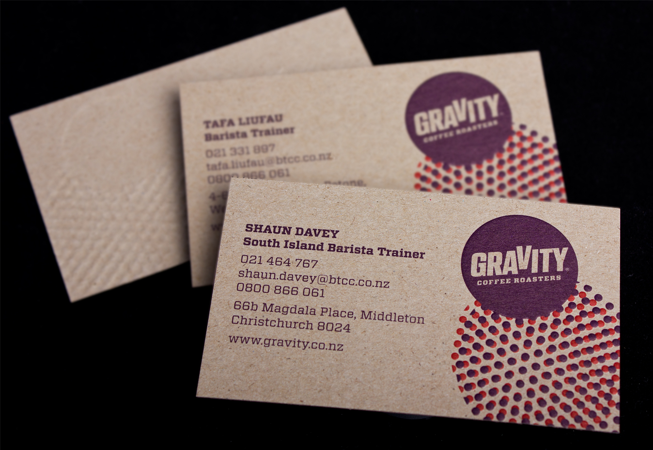 gravity business cards logick print