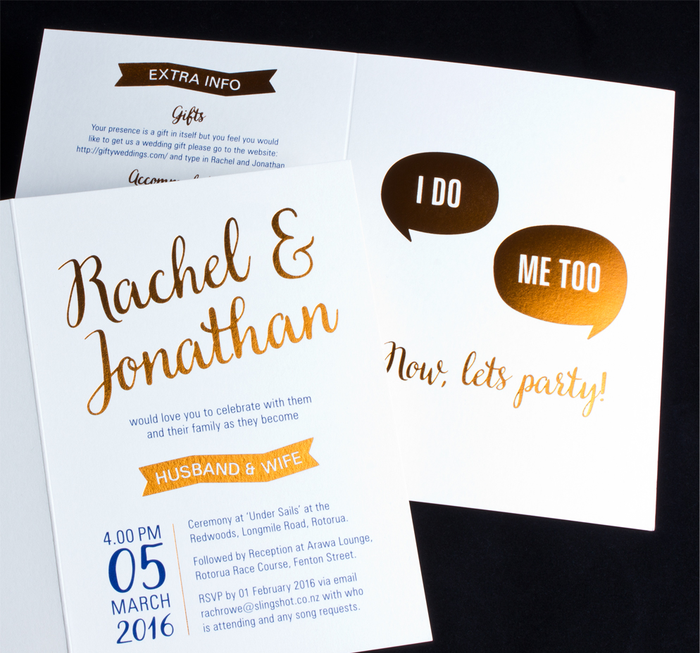 Rachel & Johnathan Wedding Invitations | Logick Print