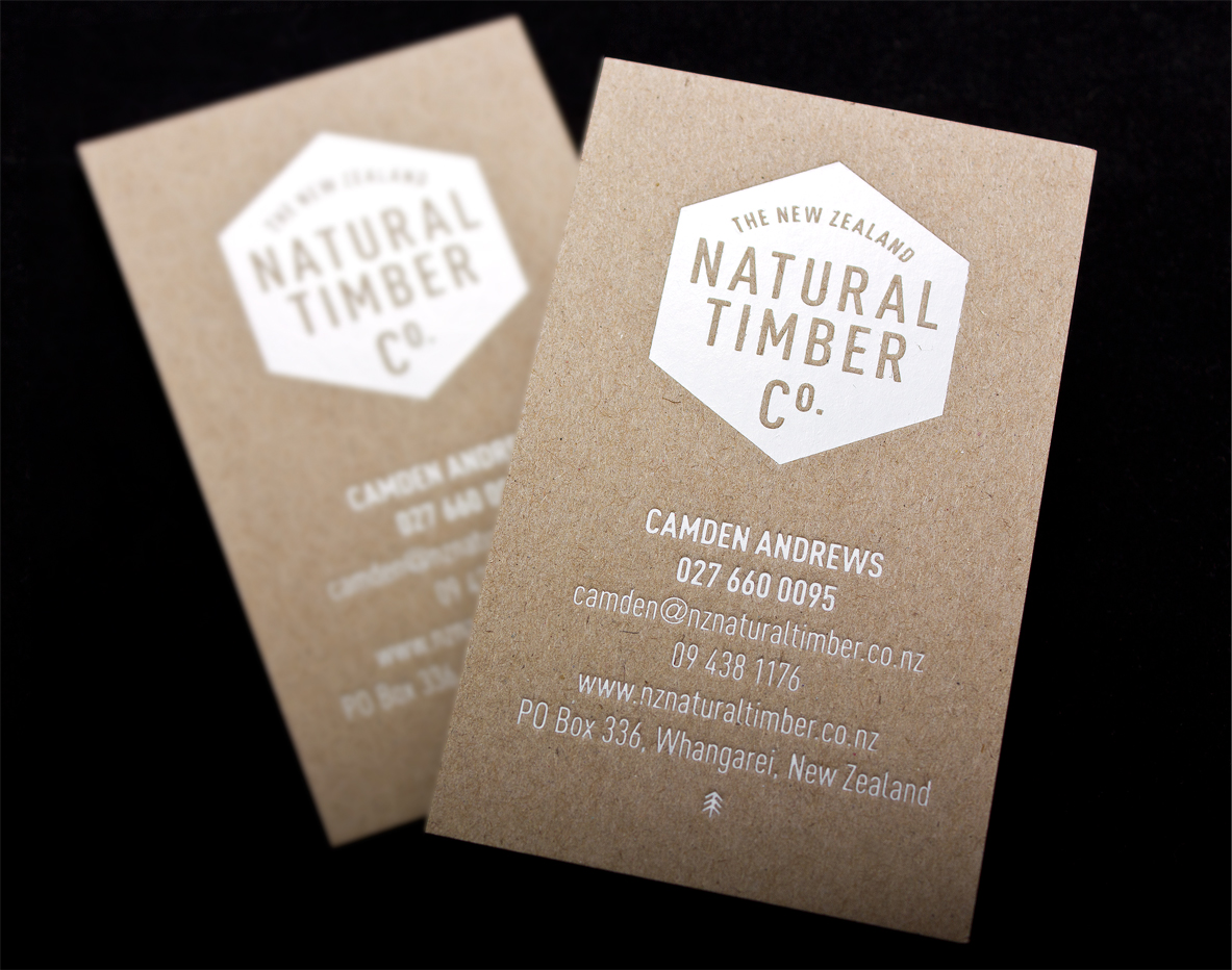 the natural timber co business cards logick print